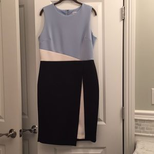 Calvin Klein color block sheath. Size 12